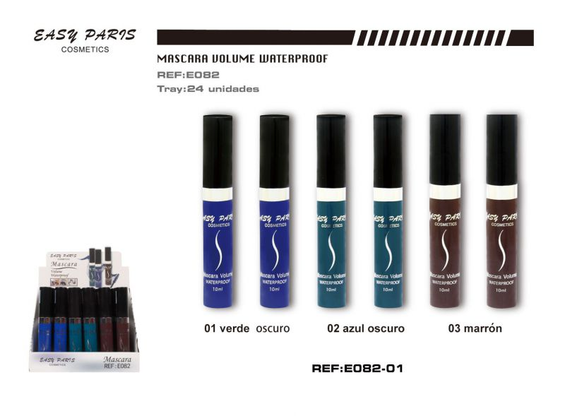 Mascara volumen waterproof color 24/u 288/u