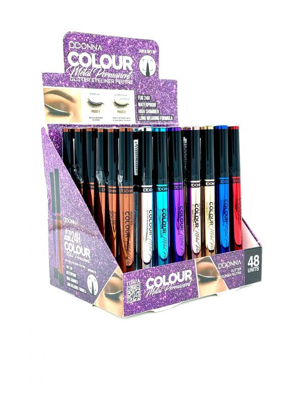 EYELINER COLOR METAL PERMANENT GLITTER 48/U 11247A DD