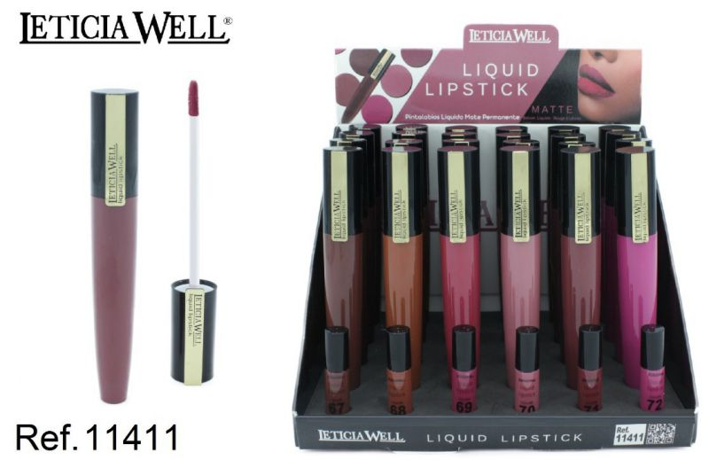 LIQUID LIPSTICK MATTE 411 24/U LETICIA WELL