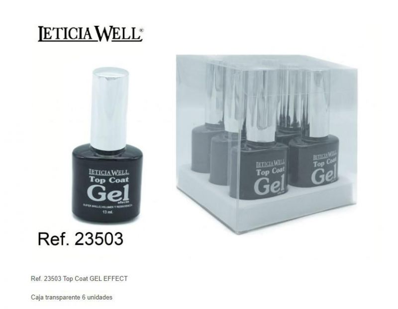 TOP COAT EFECTO GEL BOTELLA NEGRO 6/U 23503 LW