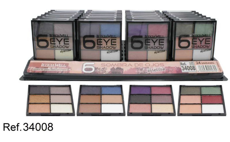 S.DE OJOS OBSESSION 6 COLORS 24/U 34008 L.W