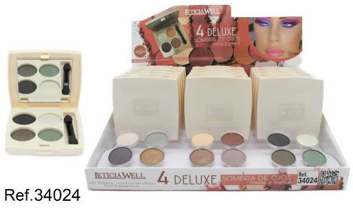 S.DE OJOS MATE Y METAL 4 COLOR N24 34024 15/U L,W