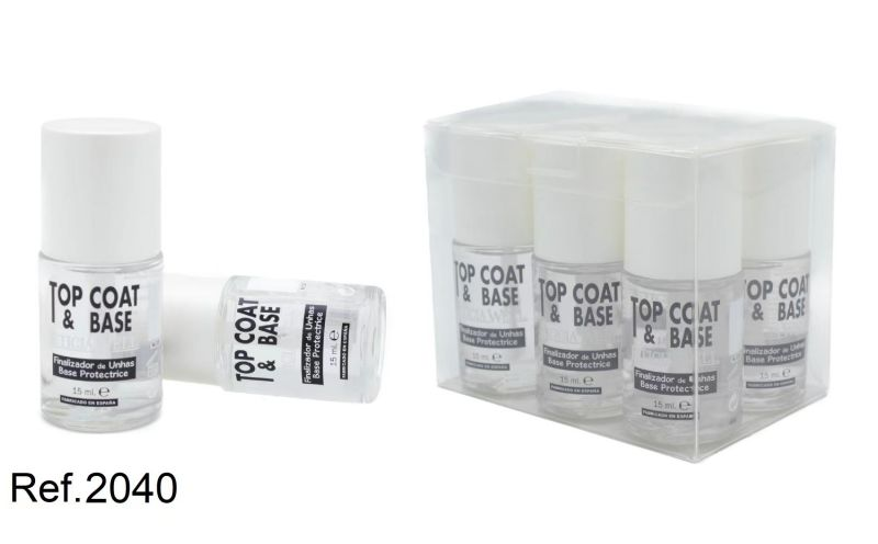 TOP COAT & BASE UÑAS 6/U 2028 L.W